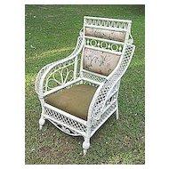 Rare Antique Victorian Wicker Arm Chair Circa 1880's