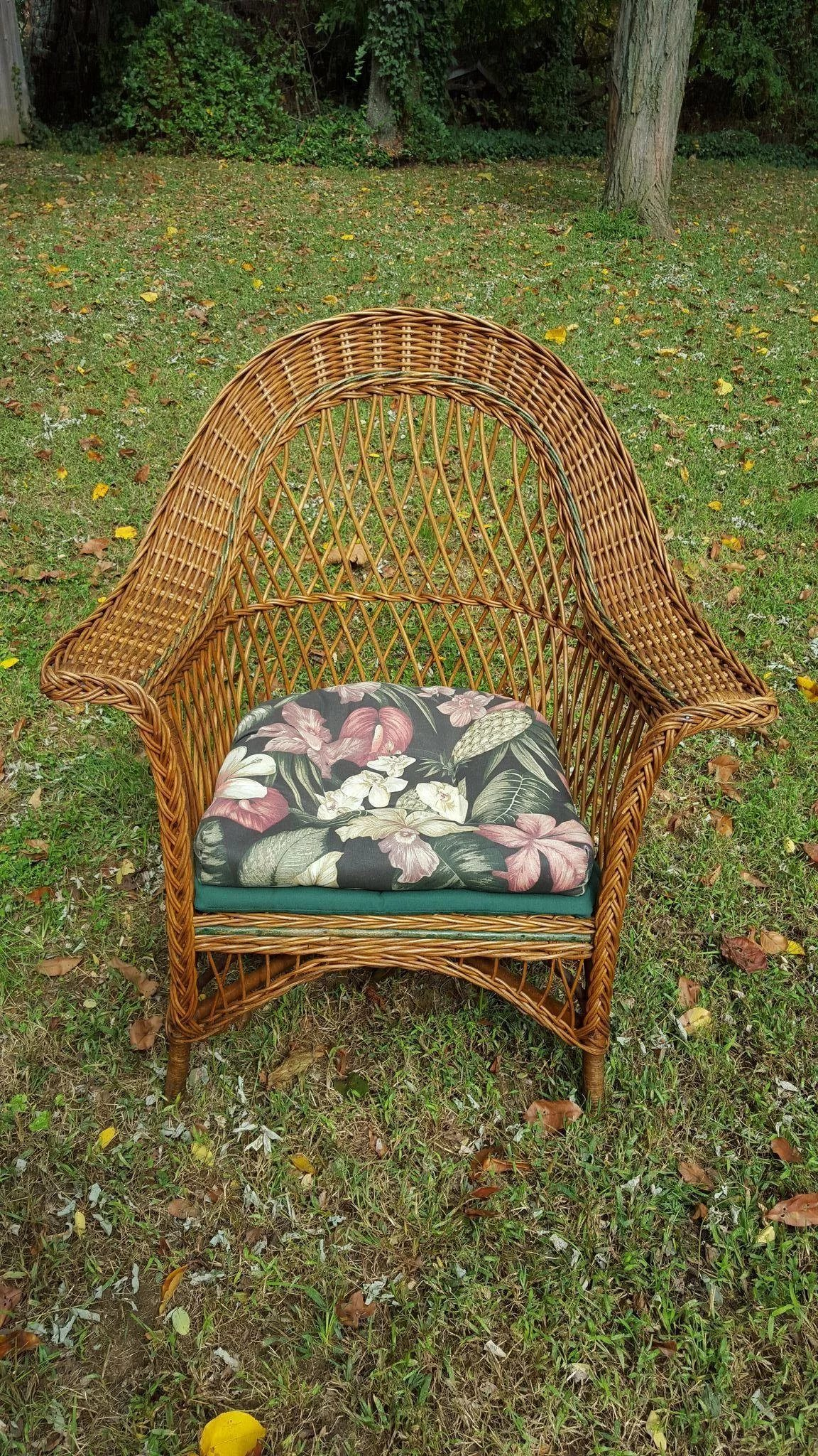 Vintage Natural Bar Harbor Wicker Arm Chair Circa 1920 S