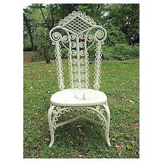 Antique Victorian Wicker Reception Chair Circa 890's