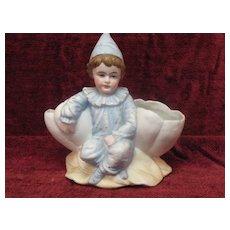 Antique Boy Bisque Figurine/Toothpick Holder