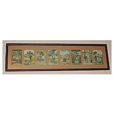 'The Lord's Prayer' Composed of 8 Illustrations in 1, Lg Rare Unique Embossed and Matted Antique Victorian Religious Prints Circa 1900
