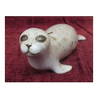 Vintage Seal Figurine/ Paperweight Artist Signed