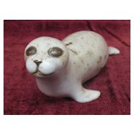 Vintage Adorable Seal Figurine/ Paperweight Artist Signed