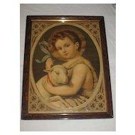 Saint John the Baptist Antique Victorian Lithograph  by Leiber
