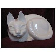 Vintage Porcelain Siamese Cat Figure Circa 1940's