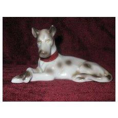 Vintage Porcelain Harlequin Great Dane Dog Figurine
