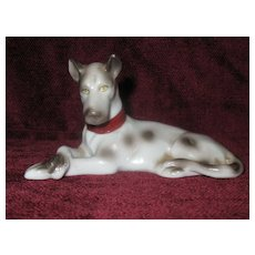 Vintage Porcelain Harlequin Great Dane Dog Figurine