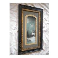 Late 19th Century Pastel Winter Scene Original Art