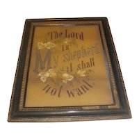 Rare Antique Victorian Punch Paper Motto The Lord is My Shepherd I Shall Not Want Circa 1890's