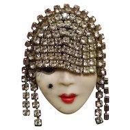 Glamour Girl Brooch Pin Fashion Girl