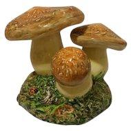 Large Vintage Porcelain Mushrooms Circa 1972