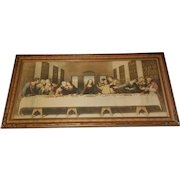 Extra Large The Last Supper Lithograph Print  by Leonardo Da Vinci Circa 1920's