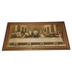 Extra Large The Last Supper Lithograph Print  by Leonardo Da Vinci Circa 1920's