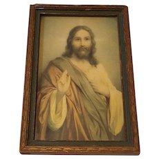 Vintage Jesus Print Circa 1920's