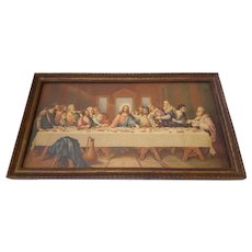 Vintage The Last Supper Print by Leonardo Da Vinci Circa 1920's