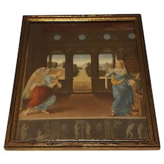 Vintage Religious Print The Annunciation  Circa 1920's