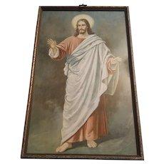 Vintage Religious Print of Jesus Circa 1920's