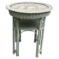 Vintage Round Wicker Table Circa 1920'