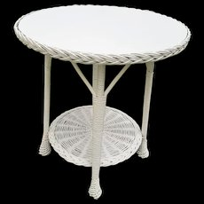 Vintage Bar Harbor Wicker Table Circa 1920's