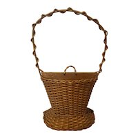Antique Wicker Basket Circa 1920