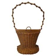 Vintage Wicker Basket Circa 1920's