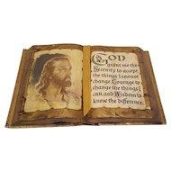 Vintage Serenity Prayer Circa 1960's
