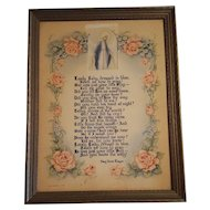 Vintage Religious Poem to Mary by Mary  Dixon Thayer  Circa 1943