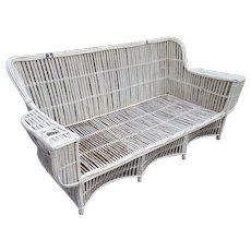 Vintage 1920's Stick Wicker Sofa