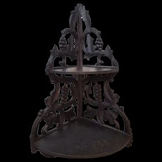 Antique Ornate Victorian Hanging Corner Shelf Circa 1870's