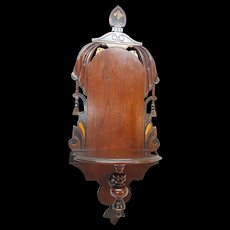 Antique Victorian Walnut Hanging Shelf Circa 1880's