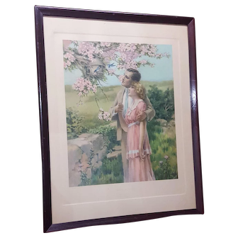 Large Vintage Print  Titled Home Builders Circa 1920's