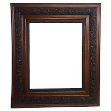 Large Antique Wood Frame with Fancy Applied Gesso Circa 1900