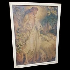 Vintage Print The Good Shepherd Circa 1920's