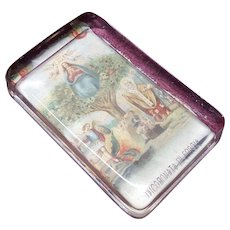 Paperweight Clear Glass with Incoronazione Di Maria Vergine Religious Card