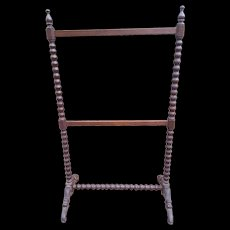 Antique Walnut Victorian Blanket Rack Circa 1880's