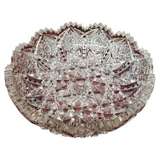 Antique American Brilliant Cut Glass Bowl