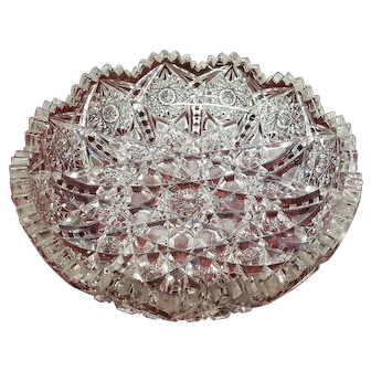 Antique American Brilliant Cut Glass Bowl