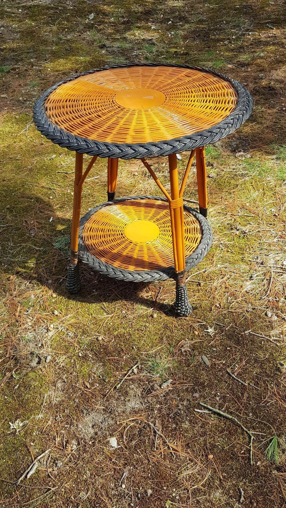 Vintage Bar Harbor Wicker Table Circa 1920 S Dovetail