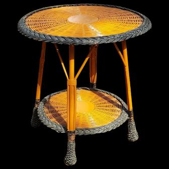 Vintage Bar Harbor Wicker Table  Circa 1920's