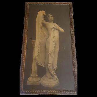 Rare Antique Ziegfeld Girl Photograph Poster Print Circa 1920 Large