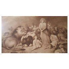 Rare Antique Print Titled A Reign Of Love by William Strutt