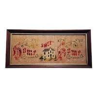 Antique Home Sweet Home Victorian Motto Circa 1890's