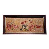 Antique Home Sweet Home Victorian Motto Circa 1890's