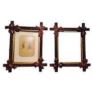 Pair of Antique Victorian Walnut Picture Frames Circa 1880's