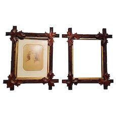 Pair of Antique Victorian Walnut Picture Frames Circa 1880's