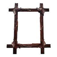 Small Victorian Walnut  Picture Frame   Circa 1880's