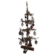 Antique German Paper Feather Christmas Tree  Circa 1900