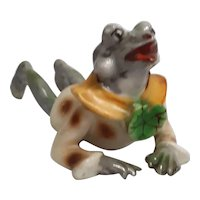 Occupied Japan Porcelain Frog Figurine