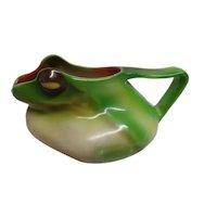 Antique Royal Bayreuth Porcelain Frog Creamer