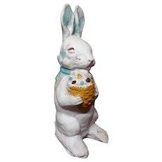 Vintage Chalk Easter Bunny Figurine Circa 1920's